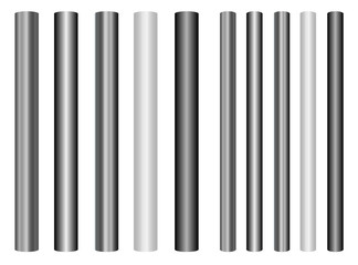 Obraz Scaleable shiny steel poles collection in different styles - fototapety do salonu