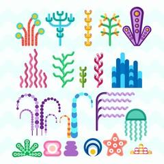 underwater coral plants
