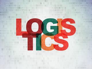 Finance concept: Logistics on Digital Data Paper background