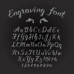 Engraving font set