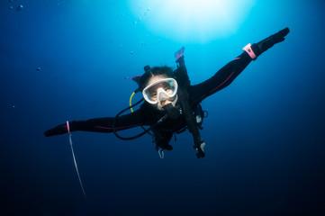 Flying underwater