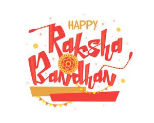 Greeting Card with Rakhi for Raksha Bandhan.