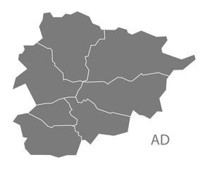 Andorra Map grey