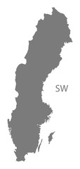 Sweden Map grey