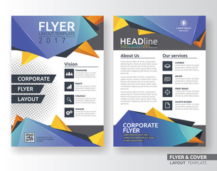 Multipurpose corporate business flyer layout template design. Suitable for flyer, brochure, book cover and annual report. A4 size with bleeds.