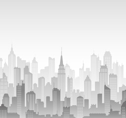 Vector buildings silhouettes background