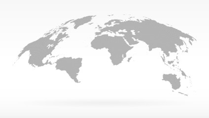 simple black dots world map. concept of infographics element, trip around, globalization. isolated on white background.
