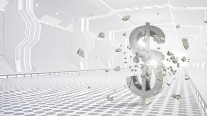 Safe deposit future design . Mixed media