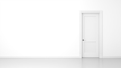 white wall and door background