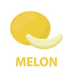 Fototapete - Melon icon cartoon. Singe fruit icon from the food set - stock vector