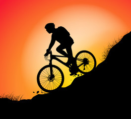 Track cycling scene vector nature landscape background