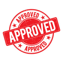 Approved Stamp Icon Sign Vector.