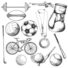 Drawing of sport element
