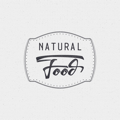 Natural food - labels, stickers, hand lettering, was written with the help of calligraphy skills and collected templates using typographic rules