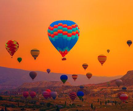 landscape Balloons Silhouette Sunrise
