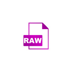 RAW Icon. Vector concept illustration for design