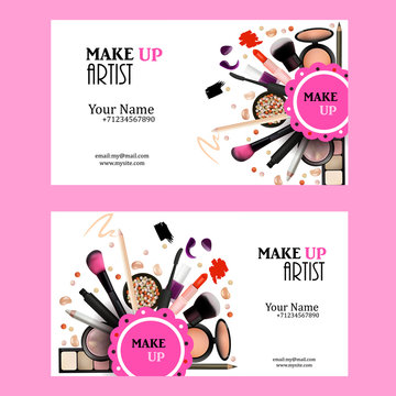 Makeup Artist Business Card Images