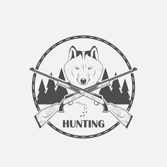 hunting wolves label