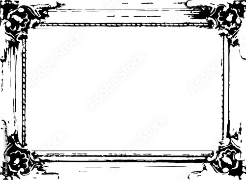 Rahmen Vektor Schwarz Weiss Barock Stock Image And Royalty Free