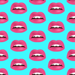 Glamour seamless lip pattern. Vector illustration for fashion design