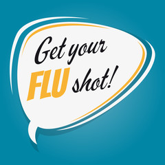 get your flu shot speech balloon