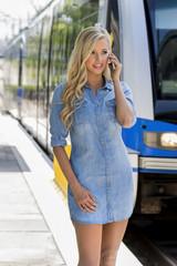 Blonde Model Outdoors