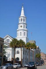 St. Michael's Episcopal Church a National Historic Landmark, is one of the finest Colonial American churches in the country and the oldest church in Charleston