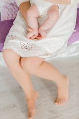 close up of child's feet