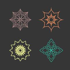 Lotus logo vector design icon set