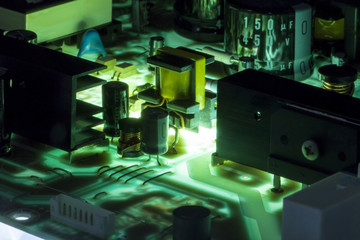 electric power source circuit board, abstract image visual