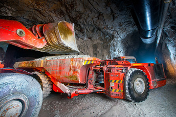 Loading truck with gold ore