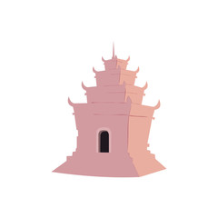 Simple Temple With Pink Color