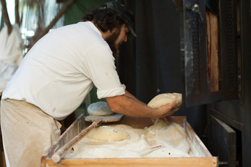 Fototapete - Baking bread