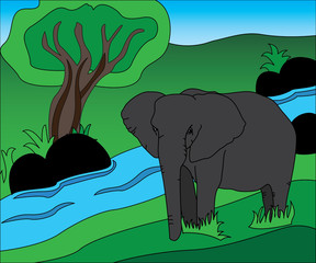 Illustration of elephant
