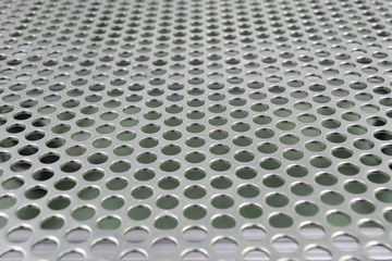 Steel grating texture bokeh