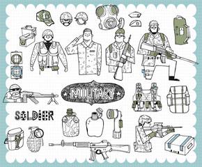 Hand drawn military B