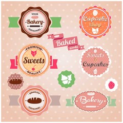 Bakery vintage stickers