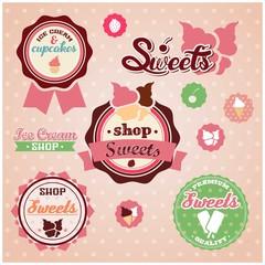 Cute sweets badges