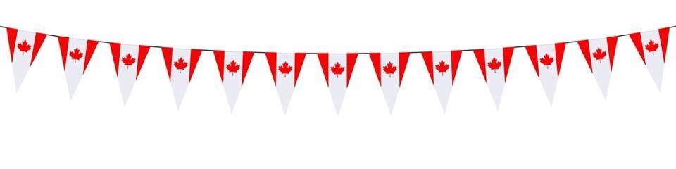 Banner. Garlands, pennants. Canada