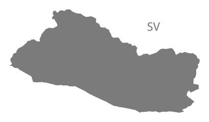 El Salvador Map grey