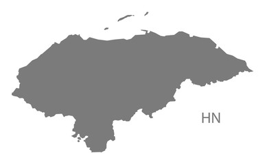 Honduras Map grey