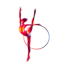 Rhythmic Gymnastics with Hoop Silhouette