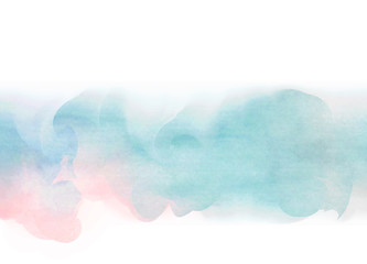 Abstract digital watercolor background painting.