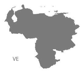 Venezuela Map grey
