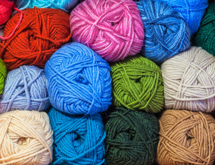 colored woolen thread