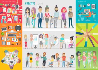 Creative team set.