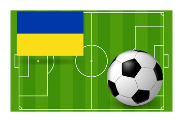 the ball and the flag of Ukraine