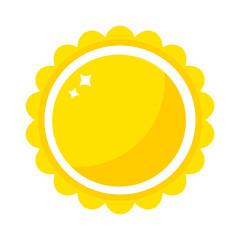 Vector sun icon isolated on white background. Sun Vector isolated summer icon design. Vector yellow sun symbol. Vector sun sun element. Sun weather icon vector sun logo isolated sign symbol