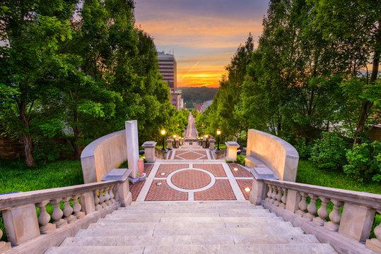 Lynchburg, Virginia, USA at Monument Terrace.