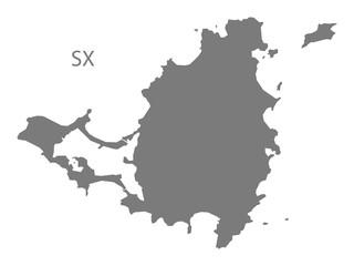 Saint Martin Map grey